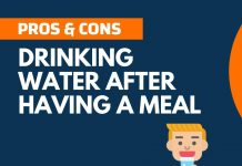 Pros and Cons of Drinking Water after Having a Meal