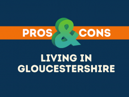 Pros cons living Gloucestershire